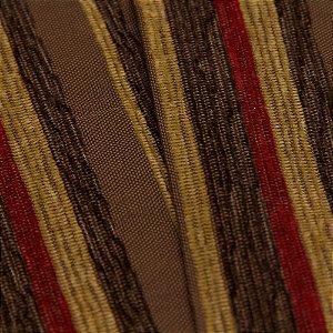 Tecido Estilo Linho Listrados Marrom Escuro, Marrom claro, Bege e Vermelho - Safira 52