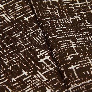 Tecido Rajado Tons de Marrom e fundo Creme - Turquesa 13