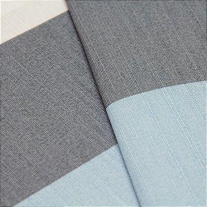 Tecido Listrado grosso Cinza, Azul Claro e Creme - Turquesa 39