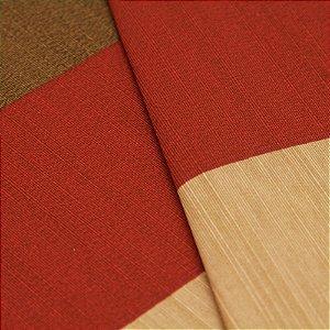 Tecido Listrado grosso Marrom Claro, Vermelho Escuro e Bege - Turquesa 44