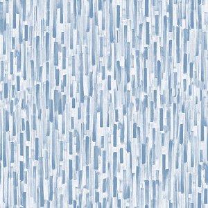 Papel de parede vinílico Barras Azul Claro e Branco - Metrópole 821003