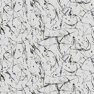 Papel de parede vinílico Abstrato Cinza e Azul - Metrópole 820504