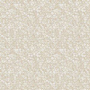 Papel de parede vinílico Estilo Cimento Trincado tons de Cinza e Mostarda - Metrópole 821104