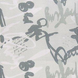 Tecido Jacquard Estilo Assinaturas, Tons de Verde e Branco - Irl 10