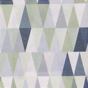 Tecido Jacquard triangulos Tons de Verde, Cinza, Branco - Irl 12