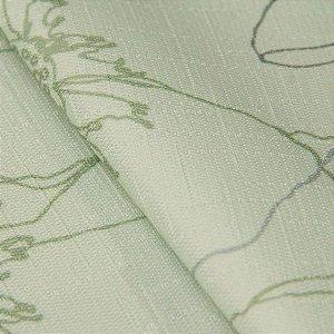 Tecido Jacquard Floral Tons de Verde Claro - Irl 15