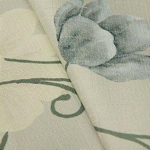 Tecido Jacquard Floral Tons de Verde Claro, Cinza - Irl 16