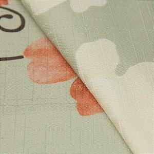 Tecido Jacquard Floral Bege, vermelho, Laranja  e Cinza - Irl 32