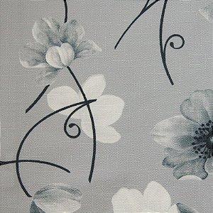 Tecido Jacquard Flora Tons de Cinza- Irl 64