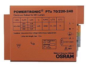 Reator Eletrônico PTz 70w 220v Powertronic - OSRAM