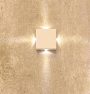 Arandela balizador Mini Star LED 0,5W 3000k bivolt - IL4149ww