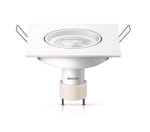 Spot de embutir quadrado LED dicróica 5w GU10 Philips