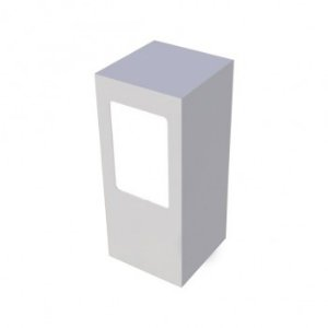 Balizador com difusor em vidro - Branco Fosco