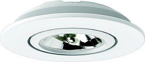 Embutido AR70 LED Redondo Bivolt Preto Microtexturizado - IL0089-GZ Interlight
