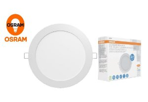 Painel LED redondo de embutir 10w 3000k bivolt OSRAM