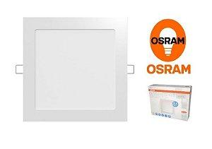 Painel LED quadrado de embutir 10w 3000k bivolt OSRAM