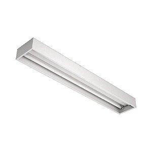 Luminária de Sobrepor Retangular T8 2x32w  - A415ACT-BM Abalux