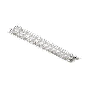 Luminária de Embutir Retangular T8 2x32w - A610 BM Abalux