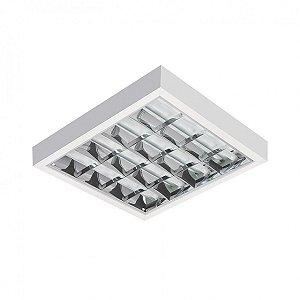 Luminária de Sobrepor Quadrada T8 4x16w - BR05 BM Abalux