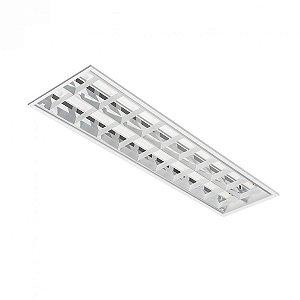 Luminária de Embutir Retangular T8 2x32w  - BR10 Abalux