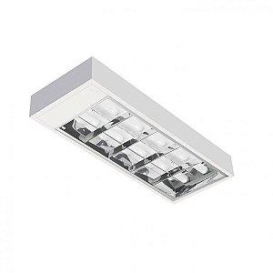 Luminária de Sobrepor Retangular T8 2x16w- BR400 Abalux