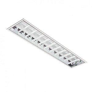Luminária de Embutir Retangular T8 2x32w - BR407 Abalux
