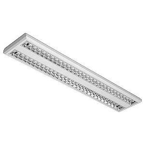 Luminária de Sobrepor Retangular 54w 2x28 - E05 Abalux