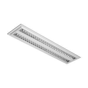 Luminária de Embutir Retangular 54w 2x28 - E06AL Abalux