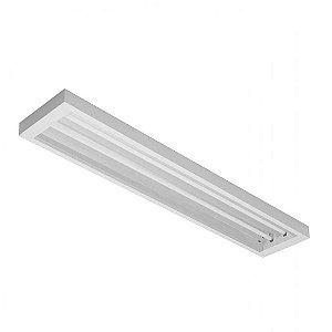 Luminária de Sobrepor Retangular 54w 2x28 - E110 Abalux