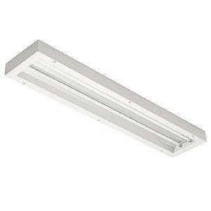 Luminária de Sobrepor Retangular 54w 2x28 - E138ACT Abalux