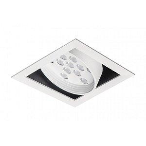 Spot de Embutir Quadrado com Facho Orientável - ER41-E1ML830MB Abalux