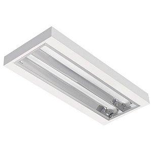 Luminária LED de Sobrepor Retangular 19w 3000k 1960lm - LEDC09-3K Abalux
