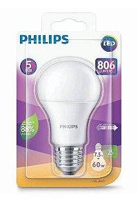 Lâmpada LED Bulbo 7,5w 3000k Amarela E27 Bivolt 806lm Philips