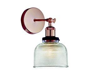Arandela em vidro transparente e soquete cobre - 6620 Mart Collection
