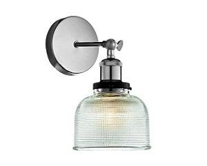Arandela em vidro transparente e soquete cromado - 6618 Mart Collection