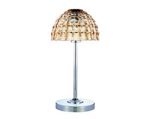 Luminária de mesa fixa em metal e cúpula de vidro - 6562 Mart Collection