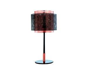 Luminária de mesa fixa em metal preto e cobre - 6516 Mart Collection