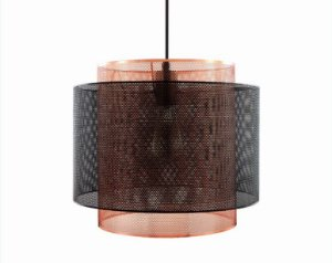 Pendente em metal preto e cobre - 6521 Mart Collection
