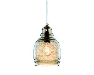 Pendente em vidro champnhe craquelado - 16cm - 5669 Mart Collection