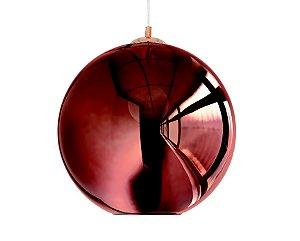 Pendente em vidro cobre redondo - 7371 Mart Collection