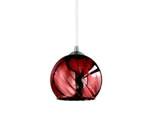 Pendente em vidro cobre redondo - 7403 Mart Collection