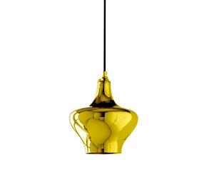 Pendente em vidro dourado - 20cm - 5691 Mart Collection