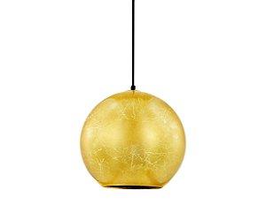 Pendente em vidro folheado dourado - 6648 Mart Collection