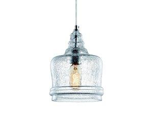 Pendente em vidro craquelado - 19cm - 5670 Mart Collection