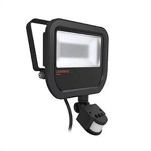 Refletor Projetor LED 20w Branco Quente 3000k Preto com Sensor Floodlight Ledvance OSRAM