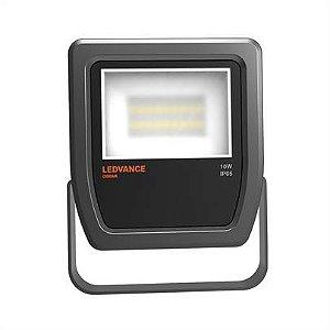 Refletor Projetor LED 10w Branco Frio 5000k Preto Floodlight Ledvance OSRAM