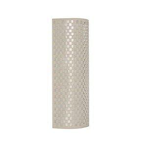 Arandela Em Aço-Tecido 23Cmx60Cm  2Xe27 -  Beg-Br - HU5030AL