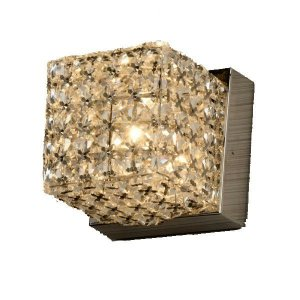Arandela Metal-Cristal 10Cmx10Cmx10Cm  1Xg9 - Cr-T - WA005