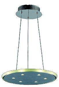 Pendente Em Aço-Vidro 46Cm  Led 9X3W - Cr-Tr - KL017L