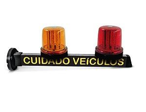 Sinalizador de Garagem LED 10w Ambar e Vermelho - Cuidado Veículos